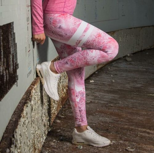 Bara Pink Ice treningstights dame siden