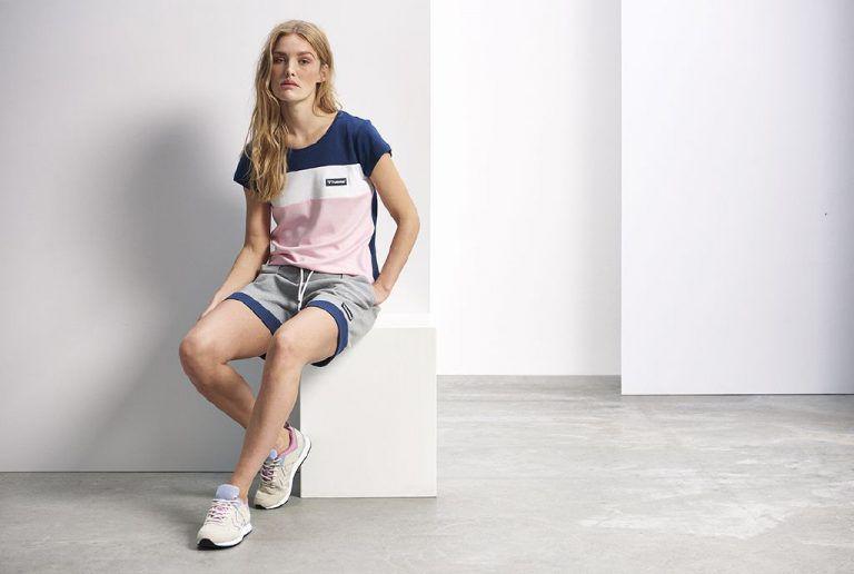 Hummel Annabelle t-skjorte og kate shorts dame