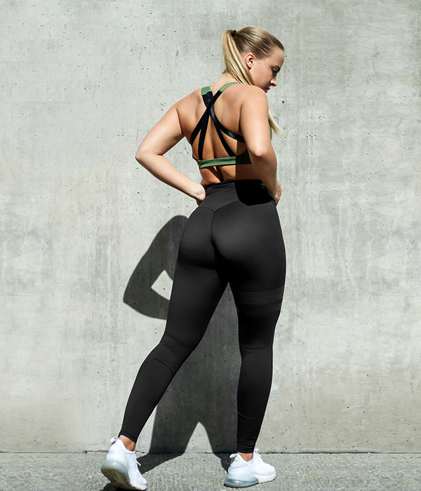 Bara Black shape tights bak