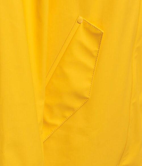Hummel Joy regnkåpe gul closeup