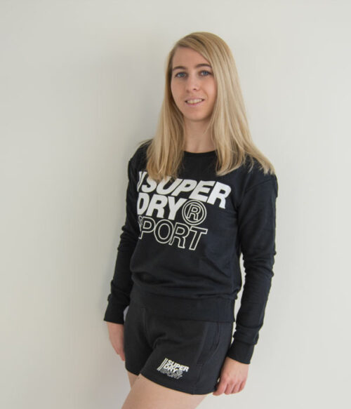 Superdry crew genser sort