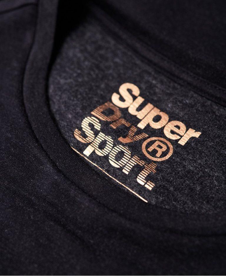 Superdry active studio luxe genser logo inni